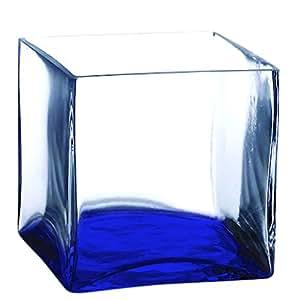 8 inch square glass vase