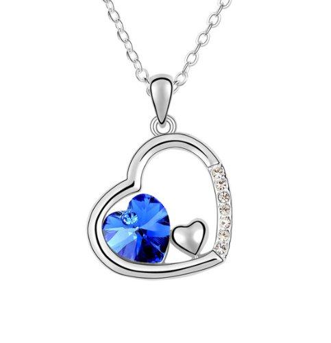 Boxingcat Fine Jewelry Swarovski Style Clear Austrian Crystal Pendant Necklaces Bgca5906 front-766725
