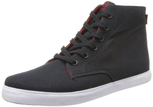 C1RCA Men's Hero Fashion Sneaker,Black/Pompeian Red,5.5 M US