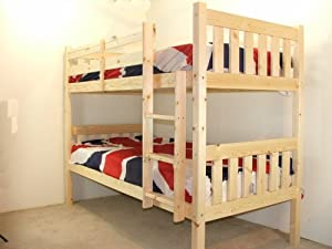Adult Bunkbed   3ft Single Bunk Bed   VERY STRONG BUNK!   Contract Use   has TWO centre rails for added support   INCLUDES two 20cm thick QUILTED sprung mattresses       reviews and more news