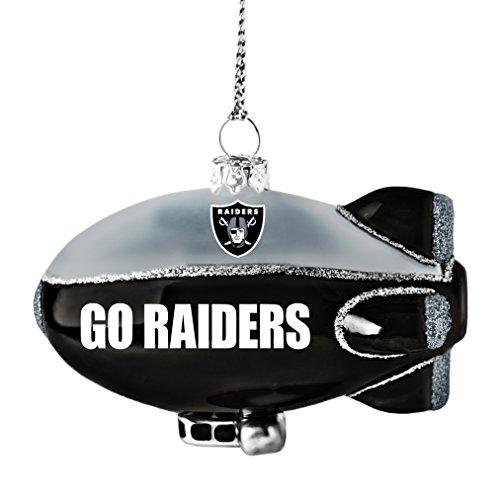 NFL Oakland Raiders Glitter Blimp Orname