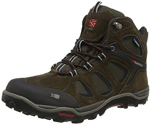 Karrimor Toledo Weathertite, High Rise Hiking, Scarpe da Uomo, Colore Nero (Black/Red), Taglia 7 UK (41 EU)