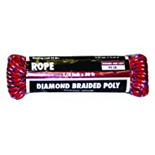 Rope King DBP-1450 Diamond Braided Poly Rope 1/4 inch x 50 feet