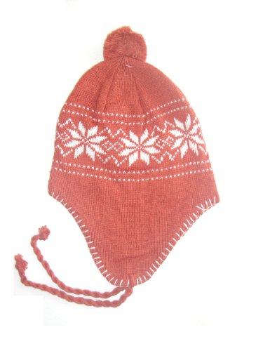 Norweger Winter Set 3- teilig für Damen bestehend aus 1 Paar Handschuhe und einer Mütze - erhältlich in 10 Farben Farbe orange