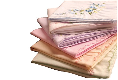 La Closure Vintage Floral Cotton Embroidered Ladies Handkerchiefs Pack 1