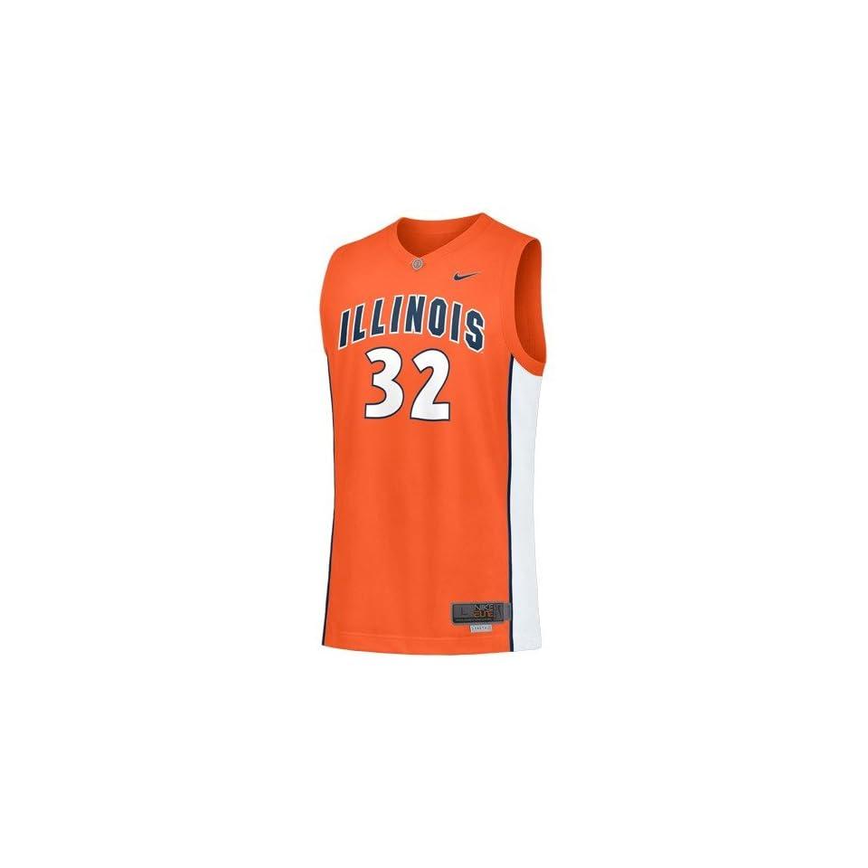 446bf3f103c Nike Elite Illinois Fighting Illini #32 Orange Replica Basketball Jersey