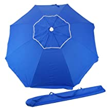 6.5ft Rio Beach Umbrella UPF 100+ with integrated Sand Anchor