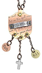 Dicksons Inspirational Tri Tone Rearview Mirror Hanging Charms (Full Armor)