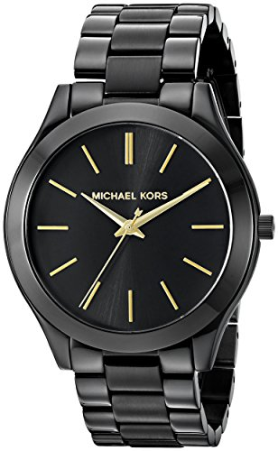 Michael Kors Women's Slim Runway Black Watch