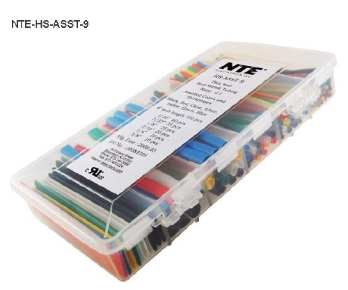 Nte Heat Shrink 2:1 Assorted Colors/Sizes 4 160 Pcs