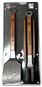SPORTULA 3-PIECE BBQ SET - HOUSTON TEXANS by SPORTULA PRODUCTS