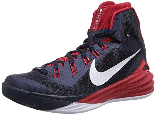 more photos ec383 13489 Men s Nike Hyperdunk 2014 Basketball Shoe Obsidian University Red White  Size 11 M US