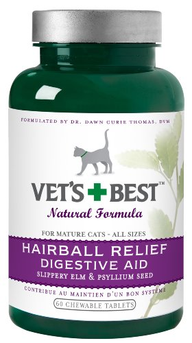 Vet's Best Hairball Relief Digestive Aid, 60 Chewable Tablets