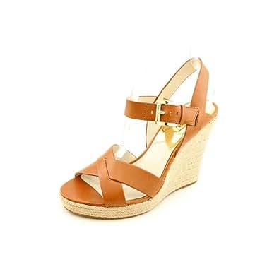 Michael Kors Viola Luggage Ankle Strap Sandal Women Size 9.5 M