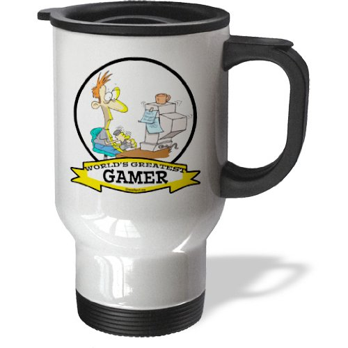 Tm_103426_1 Dooni Designs Worlds Greatest Cartoons - Funny Worlds Greatest Pc Gamer Cartoon - Travel Mug - 14Oz Stainless Steel Travel Mug