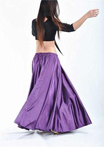 Dreamspell Beautiful Purple Long Skirts best gift dance group stage