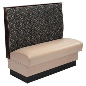 """American Tables & Seating AS-363-D Single Deuce 3 Channel Back Upholstered Booth - 36"""" High"""