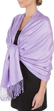 "78"" x 28"" Silky Soft Solid Pashmina Shawl / Wrap / Stole - Lavender"