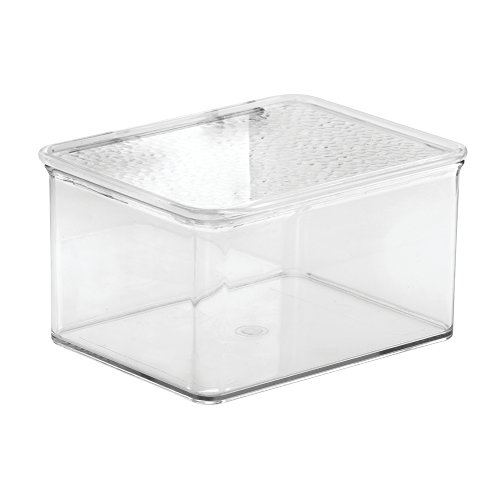 InterDesign Rain Stackable Cosmetic Organizer Box To Hold Makeup, Beauty Products - Small, Clear (Acrylic Box With Lid compare prices)