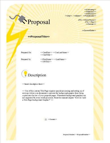 Proposal Pack Electrical #1 V15.0 - 2014