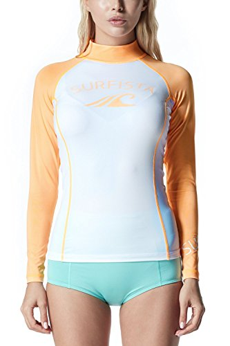 TM-WT71-WNOZ_X-Small j-S Tesla Surfista Women's Performance Long Sleeve Athletic UPF 50+ Rashguard WT71 (Snorkeling Gear Vest compare prices)