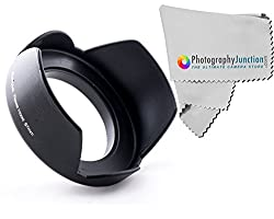 Sonia 67mm Screw on Tulip Shaped Flower Lens Hood + Free Photography Junction Premium Micro Fiber Cloth for Nikon 18-70mm/18-140mm/18-105mm/18-135mm DX Lens DSLR D7100 D5200 D5100 D5000 D3300 D3200 D3100 D90 D80 D5500
