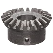 Boston Gear HL147YG Bevel Gear, 2:1 Ratio, 0.375&#034; Bore, 20 Pitch, 20 Teeth, Steel