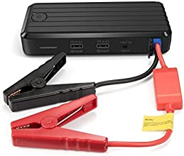 RAVPower Auto Starthilfe 500 A Spitzenstrom 12000mAh Batterie Ladegerät Tragbare USB Ladegerät Externer Akku / Power Bank mit LED-Taschenlampe Schwarz