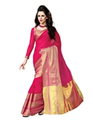 Pink Color Cotton Blend Saree ( Vivian )