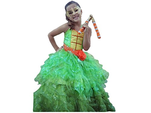 Handmade Princess Costume Big Girls' Ninja Turtle Michelangelo Dress Ball Gown