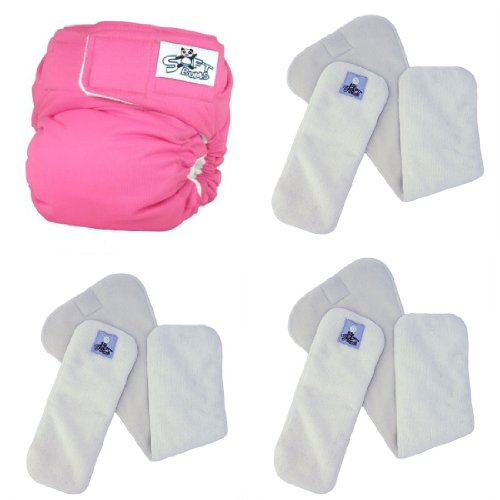 SoftBums ECHO One Size Cloth Diaper Set with 3 (New Style) SUPER Dry Touch Pods - 1