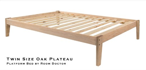 Queen Size - Solid Oak Platform Bed Frame - Eco-Friendly, Clean, Unfinished, No Toxins - Made In Usa