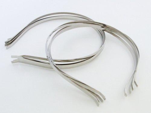 紗や工房 使い方色々!ハンドメイド用カチューシャ10個セット 銀・シルバー うさ耳、ねこ耳、リボン付きなど手作りカチューシャ用に! 無地