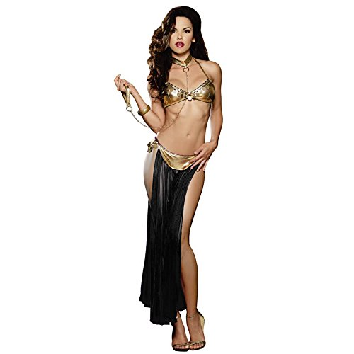 iKingsky Women's Exotic Lingerie Set Sexy Nightdress (One Size, Black)