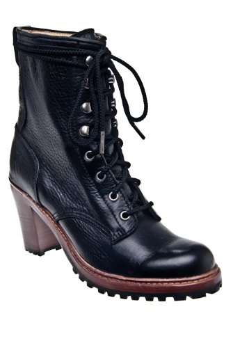 Frye Lucy Lace Up 76765 Mid Heel Bootie