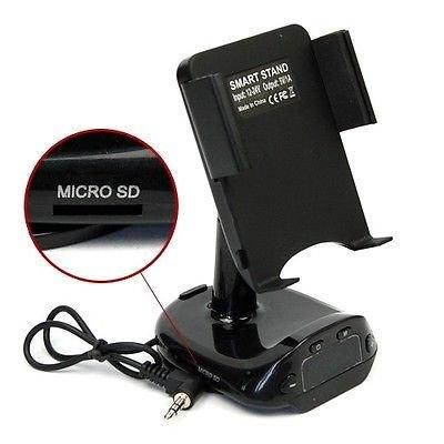 Car Mount Holder Usb Charger Fm Transmitter For Samsung Galaxy S5 S4 S3 Note 2 3 (Transmitter Holder)