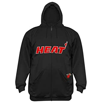 Majestic Boys Youth Miami Heat Poly Fleece Zipper Hoodie by Majestic