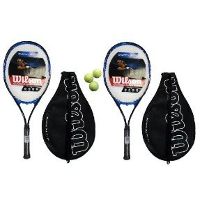 2 x Wilson Energy XL Tennis rackets + 3 x Head Tennis Balls RRP £80 L3