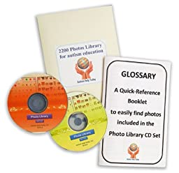 (FREE SHIPPING) 2200 Printable Photos Library (2 CDs) for Autism Education - Compatible with PECS (picture exchange communication system). Use these pics for PECS, ABA (Applied Behavior Analysis), VBA, ABLLS-R or use pictures as a language builder for aut