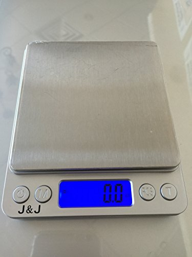 J&J Digital Scale Kitchen. Multifunction Pocket Digital Food and Jewelry Scale. Stainless Steel, Backlit Display (Food Equipment compare prices)