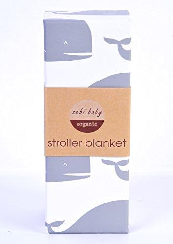 Zebi Baby Stroller Baby Blanket Grey Whale