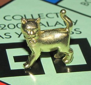Monopoly Classic Limited Edition Golden Bonus Cat Token