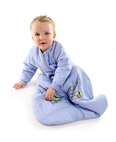 Winter Baby Sleep Sack Long Sleeves 2.5 Tog Choo Choo 6-18 months MEDIUM
