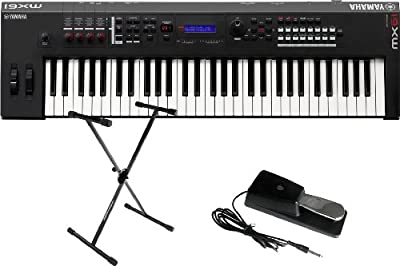 Yamaha MX61 61 Key Music Synthesizer/Controller w/Stand and Sustain Pedal by Yamaha