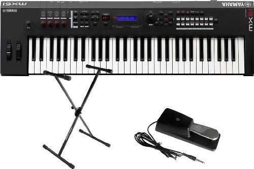Yamaha Mx61 61 Key Music Synthesizer/Controller W/Stand And Sustain Pedal