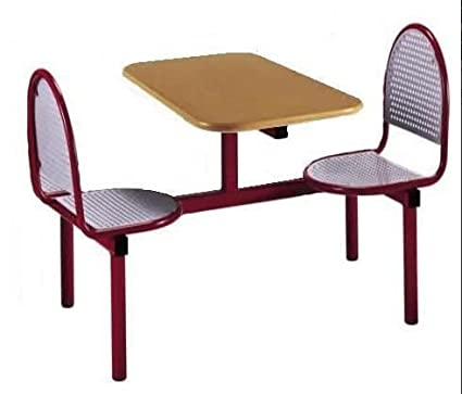 LASER RANGE 2 SEAT MODULAR CANTEEN DINING FAST FOOD TABLE AND CHAIRS / SEATER UNIT - RESTAURANT CAFE BISTRO FACTORY