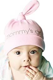 Melondipity Mommy\'s Girl Baby Girl Hat - Organic Soft Cotton Beanie - Premium