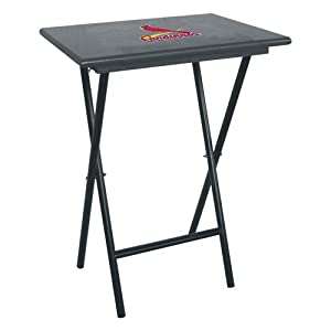 St. Louis Cardinals MLB TV Tray Set with Rack by Imperial Billiards