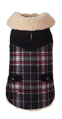 Fab Dog Wool Plaid Shearling Dog Jacket