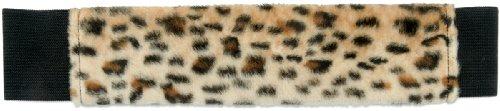 ScrapBands 03LFB-12B LBD Collection ScrapBands Faux Leopard Fur, Black Elastic Band